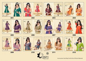 Kinti Pari Vol 2 A-Line Kurti - 12 Pieces Set