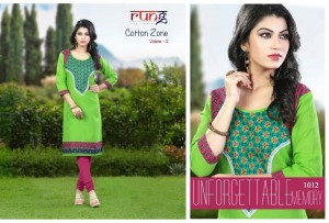 Rung Cotton Zone Vol 2 Straight Cut Kurtis - 13 Pieces Set