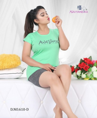Kavyansika Vol 610 Shortsnight Suits - 6 Pieces Set