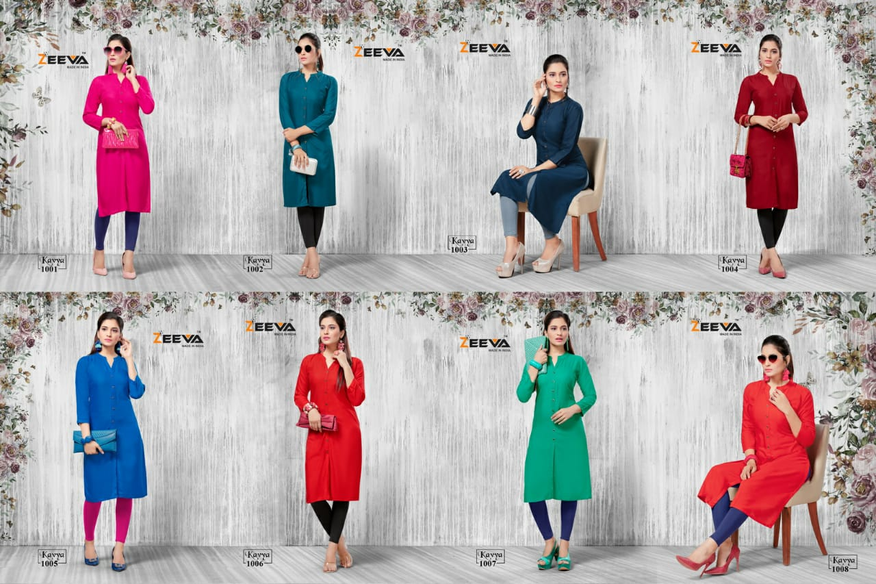 Buy Kavya Zeeva Kurtis Catalog Online Wholesaler Lowest Price